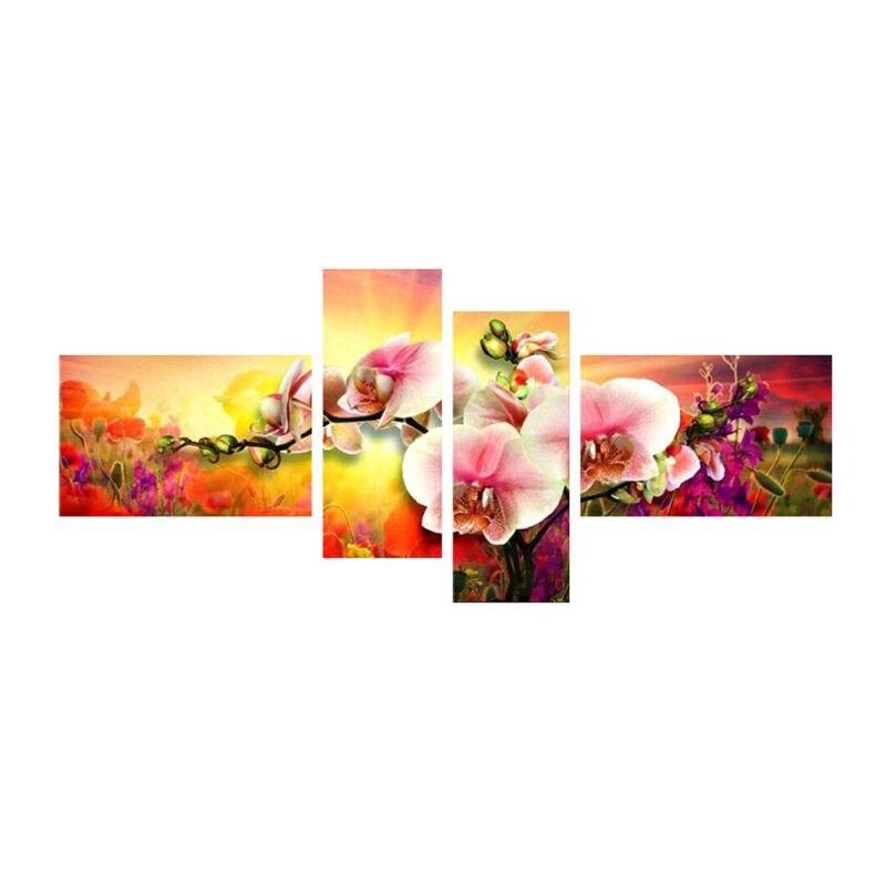 Flower 5D DIY Diamond Embroidery Painting Cross Stitch Kits Craft Art Home Decor