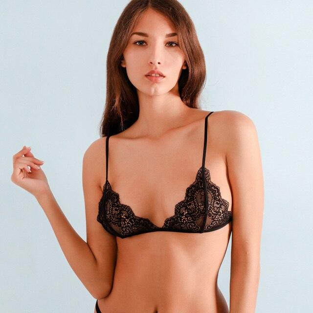 e016e71f10c Lace Bra Top Wireless Cups Brassiere Fashion Eyelash Bralette Cute Crop Top  Sexy Underwear Intimate Tops