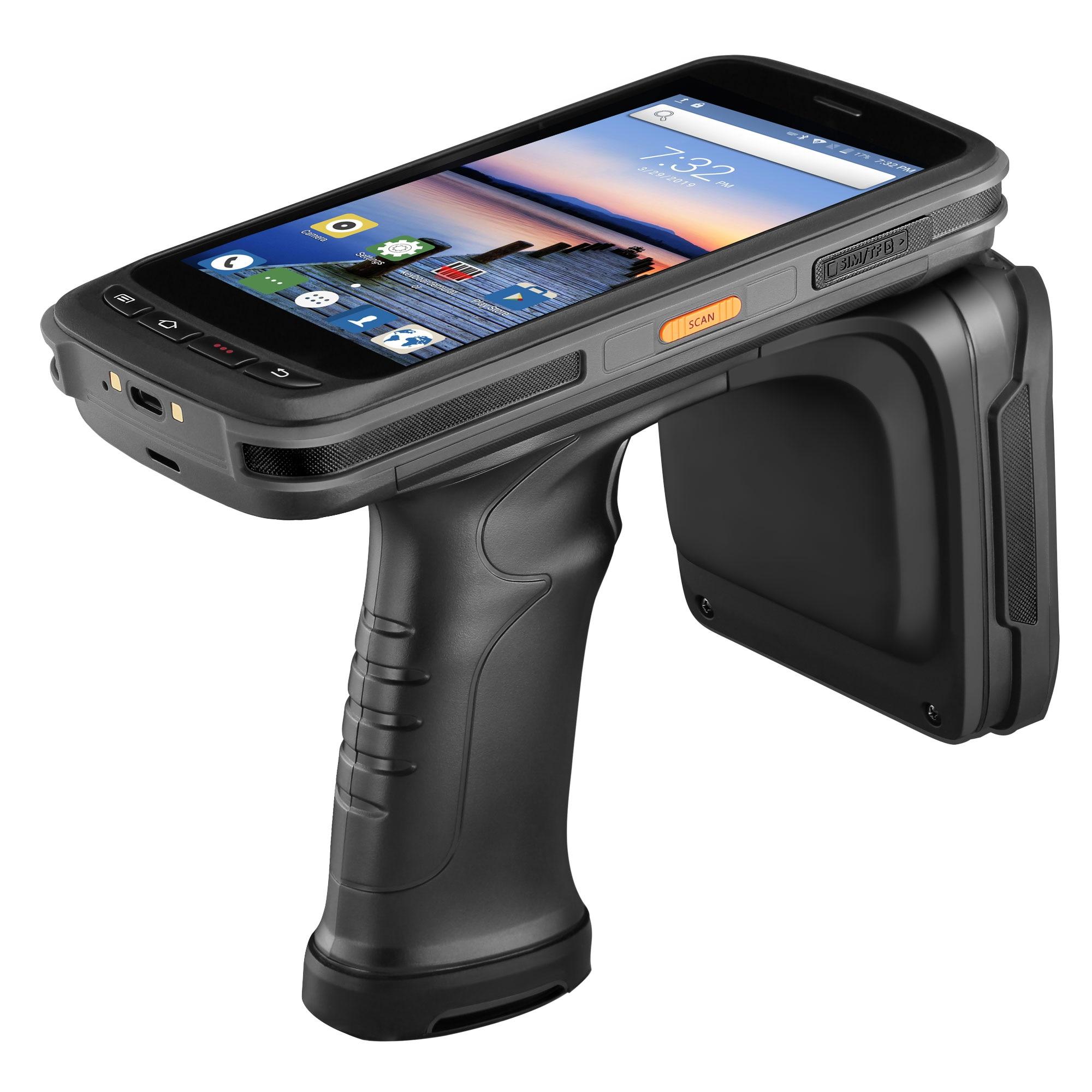 IssyzonePOS Rugged PDA Handheld Android POS Terminal de Scanner de código de barras Zebra 2D NFC 4G WiFi Leitor RFID UHF Leitor de coletor de dados