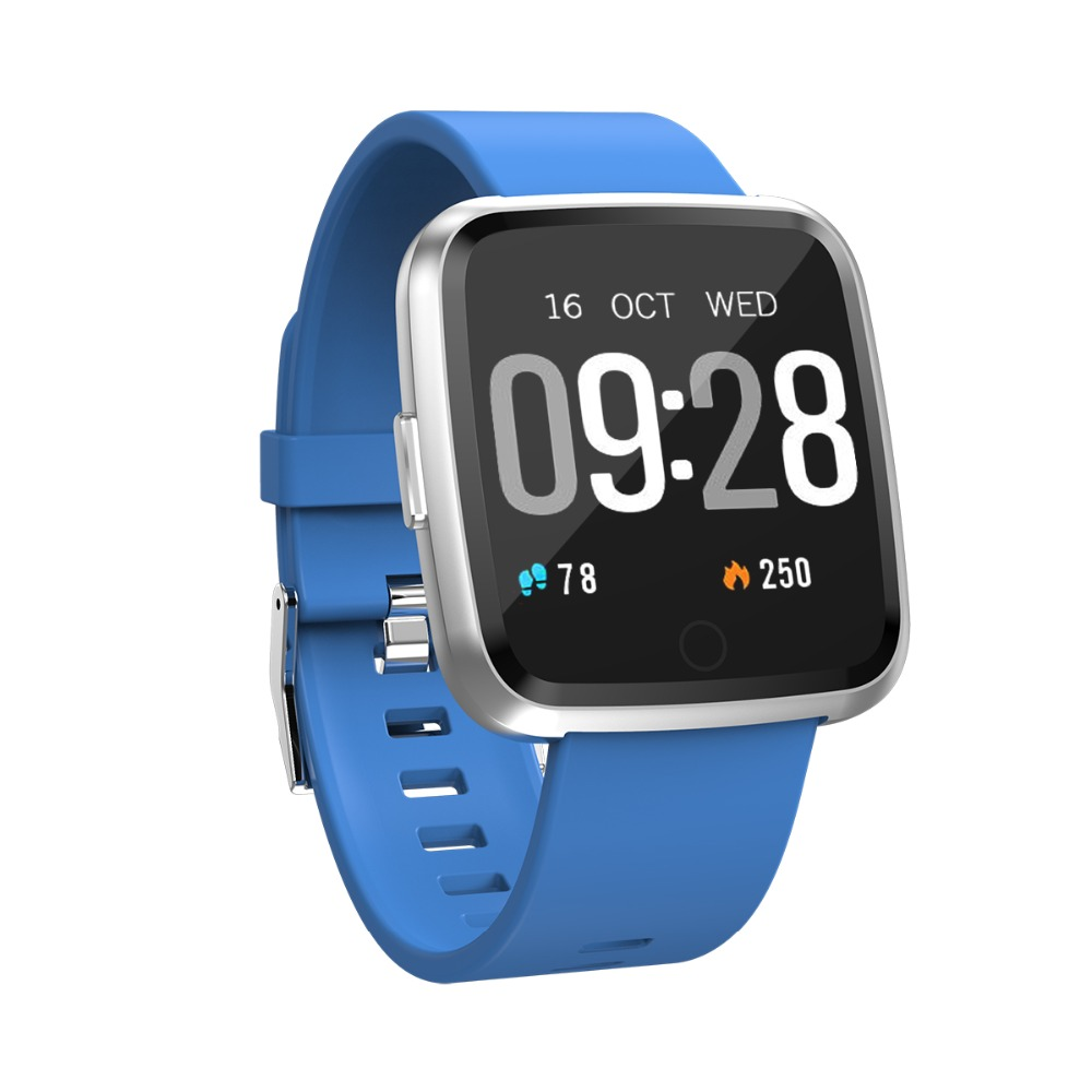 Smart Watch Y7 Magnetic Steel Strap Wristband IP67 Waterproof Heart Rate Blood Pressure Monitor Bracelet for IOS Android in Smart Wristbands from Consumer Electronics