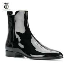 2019 FR.LANCELOT Brand Fashion Chelsea Boots Patent Leather