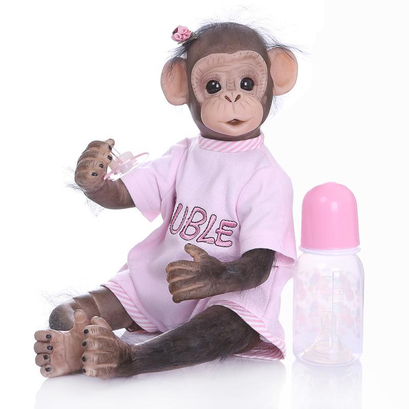 Nouveau Style bébé poupée jouet singe tissu corps Silicone 40 cm doux réaliste Reborn poupées Cosplay singes enfants cadeau