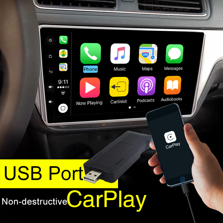 Carlinke Free Shipping USB Apple Carplay Dongle for Android Car Screen Touch Screen with iSO Carplay