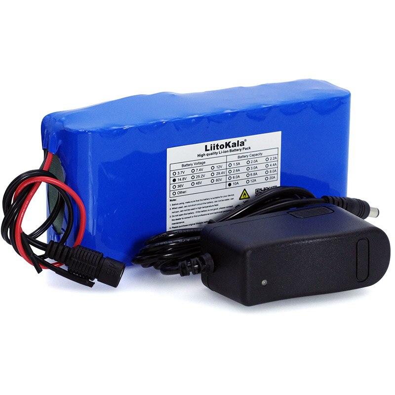 LiitoKala 14,8 V 10Ah 18650 li-iom Paquete de batería de la lámpara de pesca nocturna calentador de la batería del amplificador de la lámpara del miner con BMS + 16,8 V Char 3S 25A Li-ion 18650 BMS batería en PCM Placa de protección BMS PCM con equilibrio para li-ion Lipo batería Módulo de celda Original