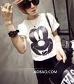 Camisetas de verano mujeres corto manga femenina algodón de la camiseta de impresión de dibujos animados tapa de la camiseta para mujeres tees 0-cuello envío gratis