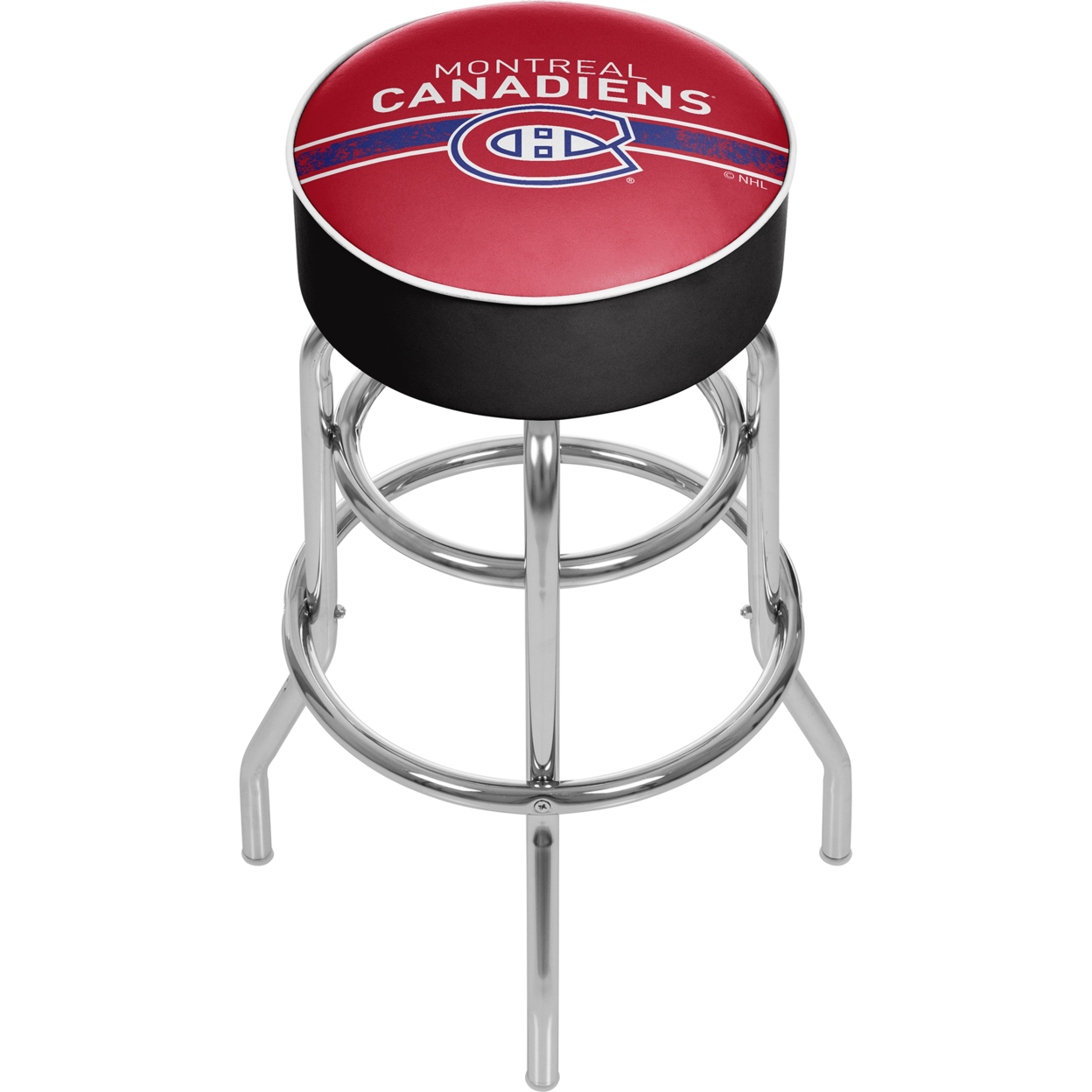 NHL Chrome Padded Swivel Bar Stool 30 Inches High - Montreal Canadiens футболка tom tailor denim 1037800 00 71 6593