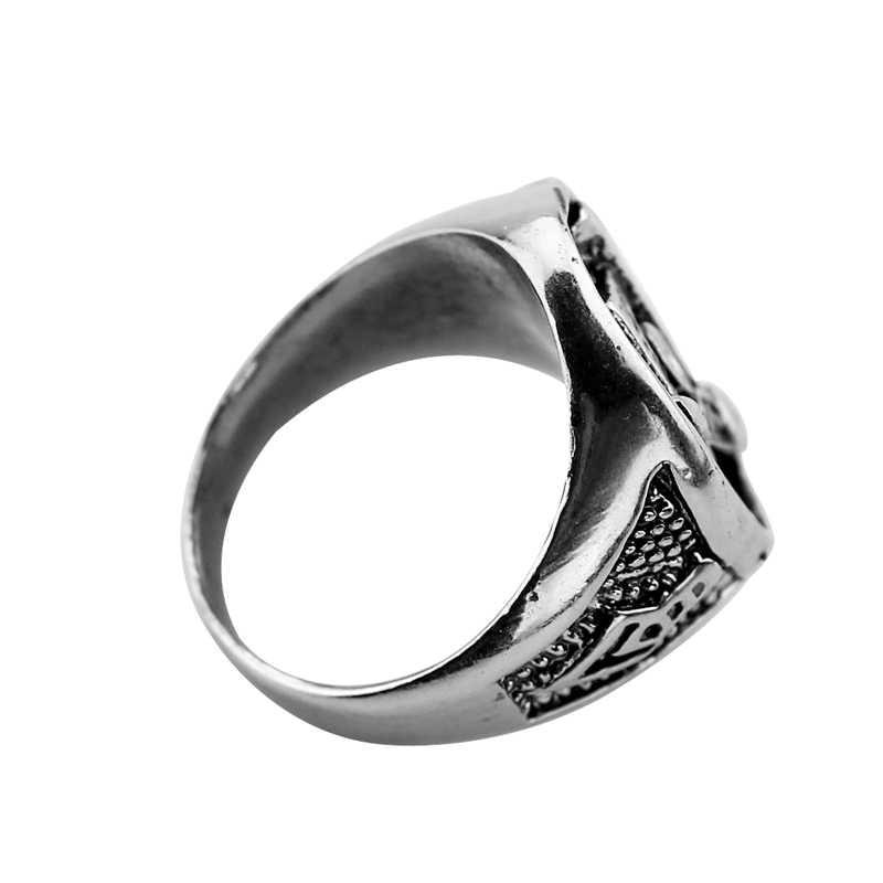 2016 ขายร้อน freemason masonic แหวนผู้ชาย silver master ฟรี mason signet แหวน Punk Masonic Jewelry band