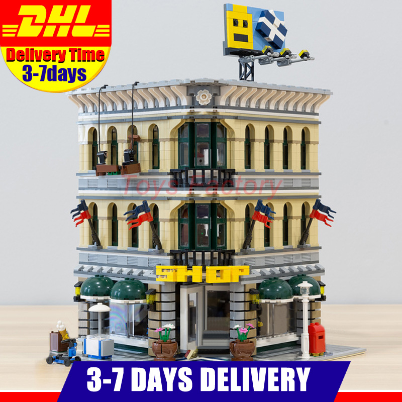 2018 MOC LEPIN 15005 2182Pcs Grand Emporium Model Building Kits Set Blocks Bricks Toy Compatible With 10211 classic lele 30004 grand emporium creator architecture building blocks bricks toys diy for children model compatible with 10211