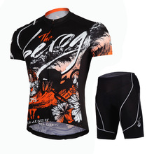 sublimation Cycling Jersey and shorts Brand Mens Breathable Bicycle Clothing sets Quick Dry GEL Pad Bike Cycling Set Black