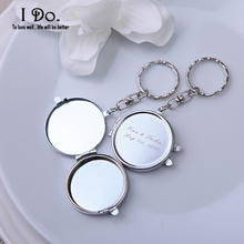 Personalized Mirror Compacts: Wedding Favors