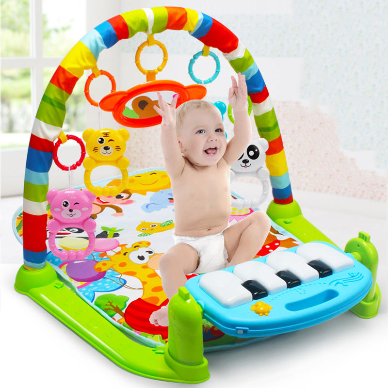 Kids Children Fitness Rack Baby Toys Piano Music Blanket Play Plastic Intellectual Development BM88