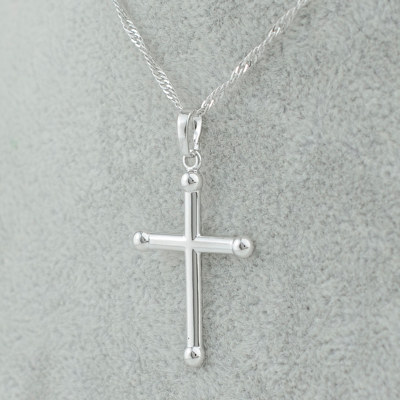 - silver/gold plated simple small cross pendant necs