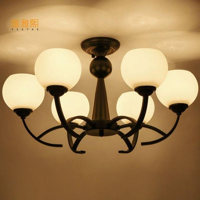 Home Lighting Vintage Style Glass Light Lamp Chandelier Light Best For  Living Dining Room