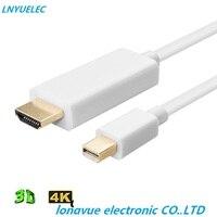 100 шт./лот Thunderbolt Дисплей MINI DP к HDMI кабель для мужского адаптер для MacBook Pro воздуха проектор Камера ТВ поддержка 4 К * 2 К