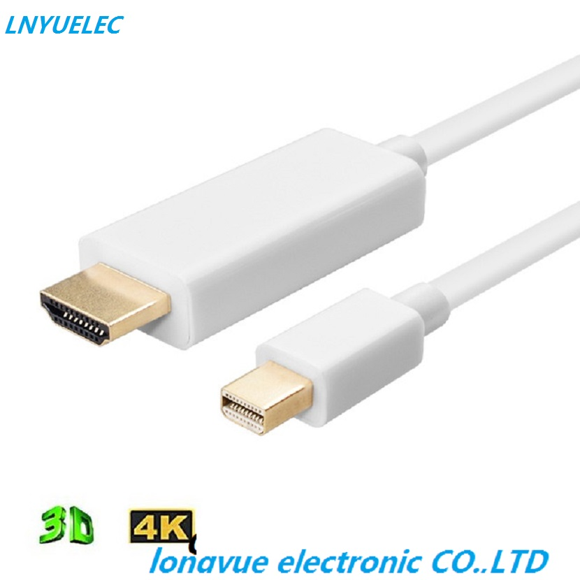 100pcs/lot Thunderbolt Display Mini DP to HDMI Cable Male to Male Adapter for Macbook Pro Air Projector Camera TV Support 4K*2K 100pcs lot 2sc3202 2sc3202 y c3202 to 92