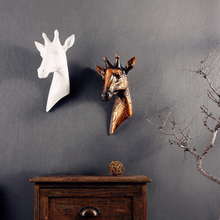 Giraffe wall mural decoration Home Furnishing European animal head pendant retro style living room