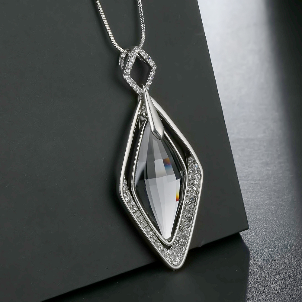 Crystal Necklace,Pendant,Necklace For Women,jewelry,Long Pendant,