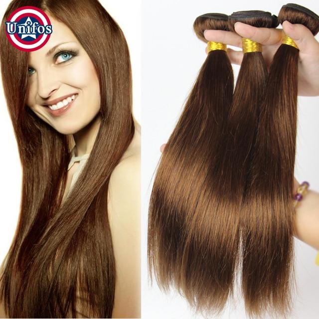 Light Brown Indian Virgin Hair Straight Medium Brown Hair Extensions