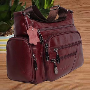 Image 3 - Women Vintage Shoulder Bag First Layer Cowhide Messenger Bags Shopping Casual Brand Famous Genuine Leather Single CrossBody Bags