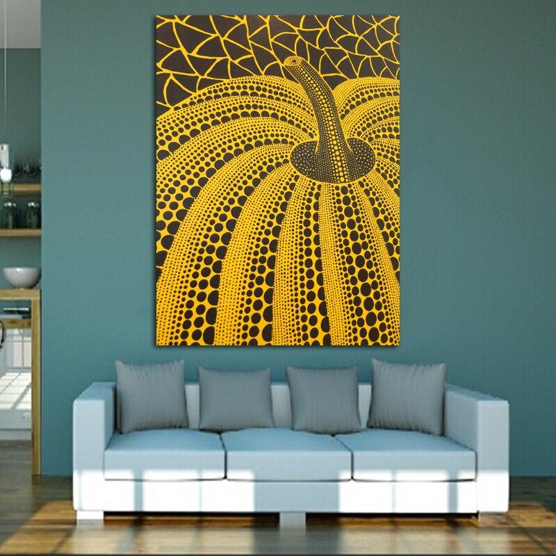Best Selling Yellow Pumpkin Yayoi Kusama Abstract Oil Painting ...