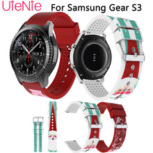 22mm trendy Christmas strap for Samsung Gear S3 men and women replacement band huami amazfit stratos 2 2S 46mm bracelet