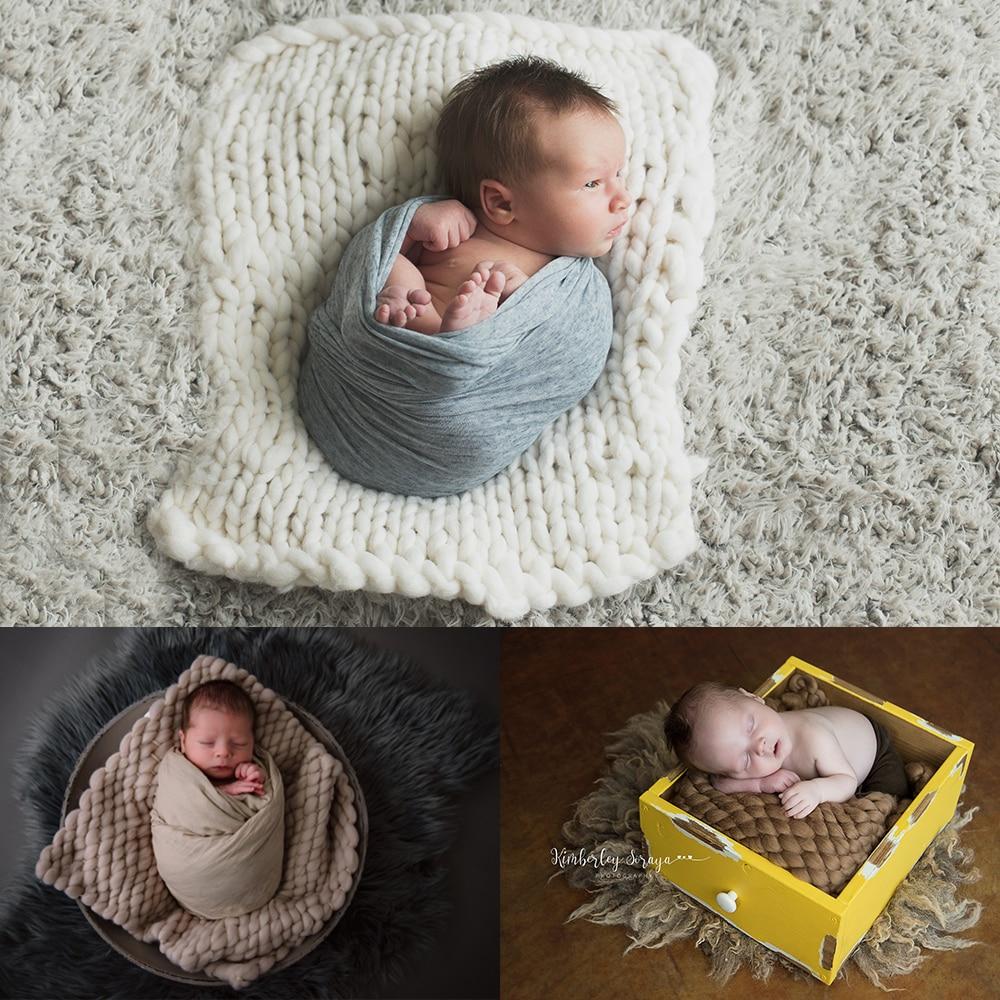 5pcs / lot (45x40cm) Handwoven Lopi אקריליק שמיכה סל מילוי מילוי תינוק תינוק
