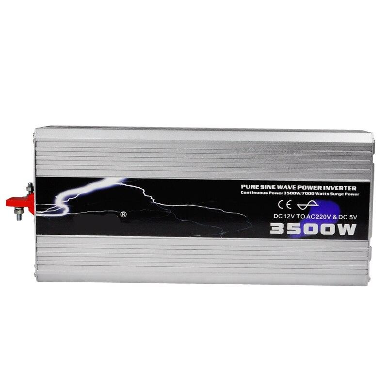 3500W Pure Sine Wave DC 12V To 220V 230V Power Inverter Peak Power 7000W Car USB