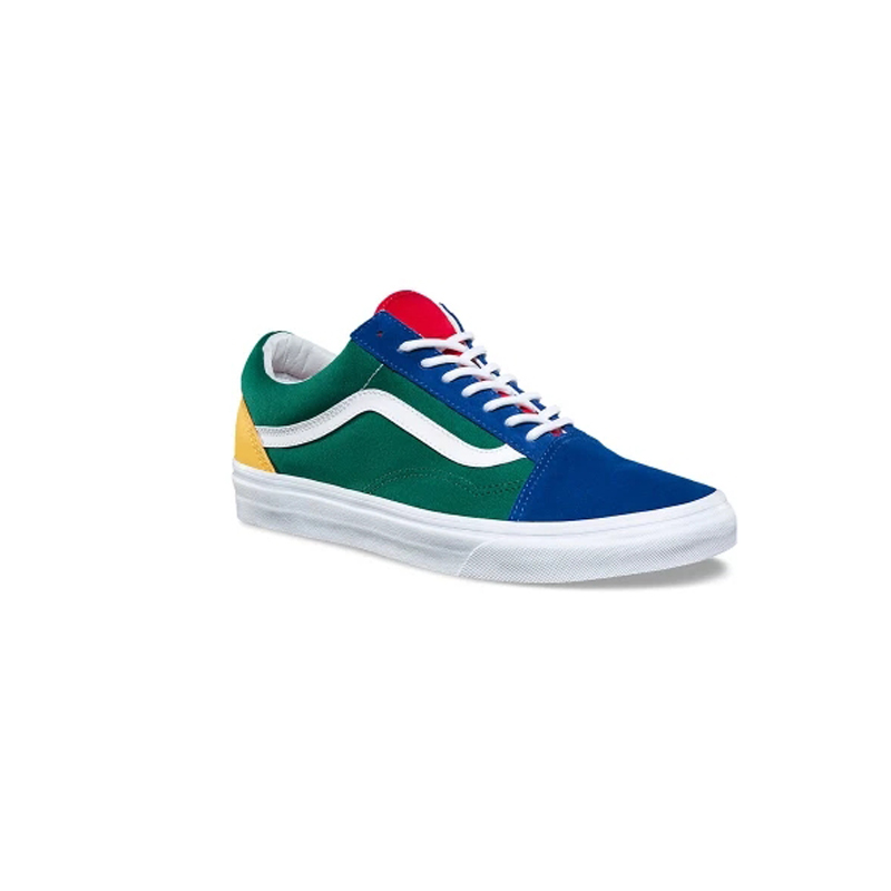 dd62372db28 Vans Old Skool Original Skateboarding Shoes Outdoor Rainbow Retro Blue and  Green Color for Men VN0A38G1R1Q 40 44-in Skateboarding from Sports ...