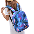 New 2017 Fashion Backpack Woman's Schools Bag Unisex Stars Universe Space Printing Canvas Female Backpacks Print DF441
