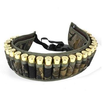 Military 28 Round Tactical Shotgun Shell Buckle Belt Holder Waist 12GA Ammo Pouch Camo Bullet Strap with Inner Zipper Pocket 1