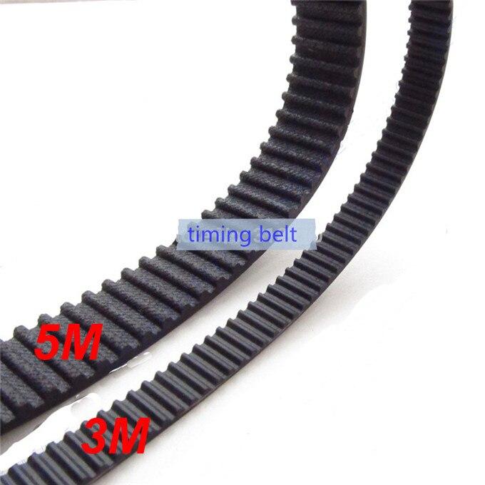 2pc HTD5M belt 1125 5M 15 Teeth 225 Length 1125mm Width 15mm 5M timing belt rubber closed loop belt 1125 5M S5M Belt 5M Pulley in Transmission Belts from Home Improvement