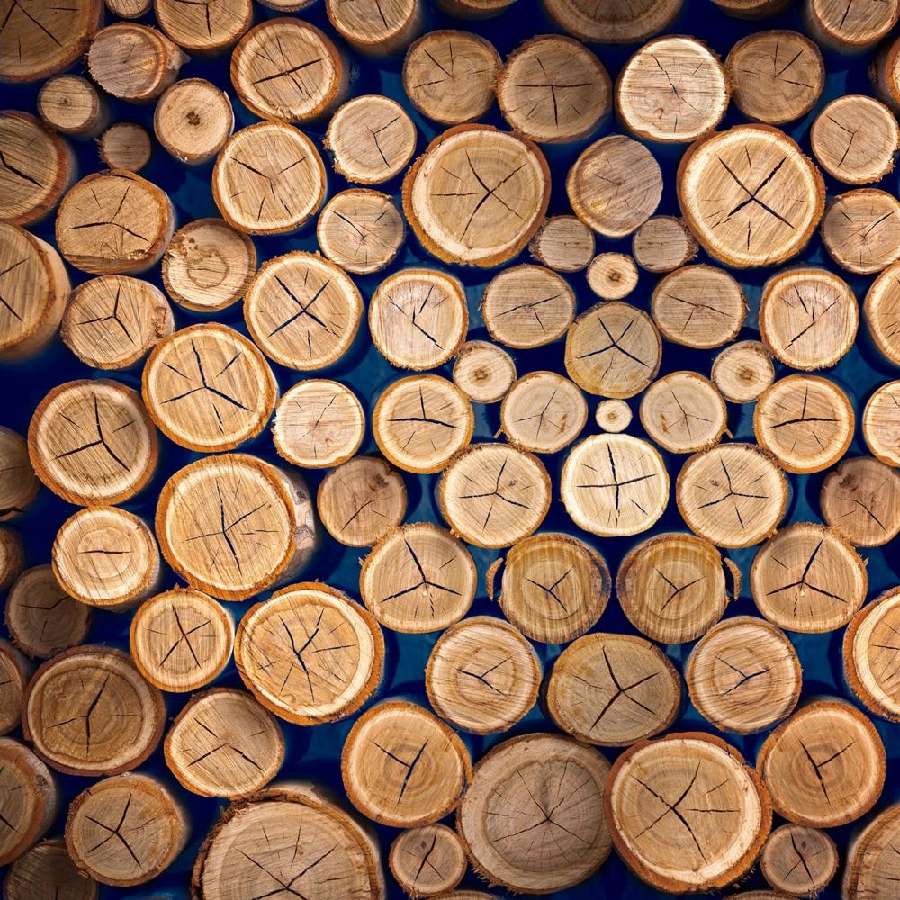 HUAYI photography backdrop Wood Round Logs Lumber Piles Custom Photo Studio Background Backdrop XT-6496