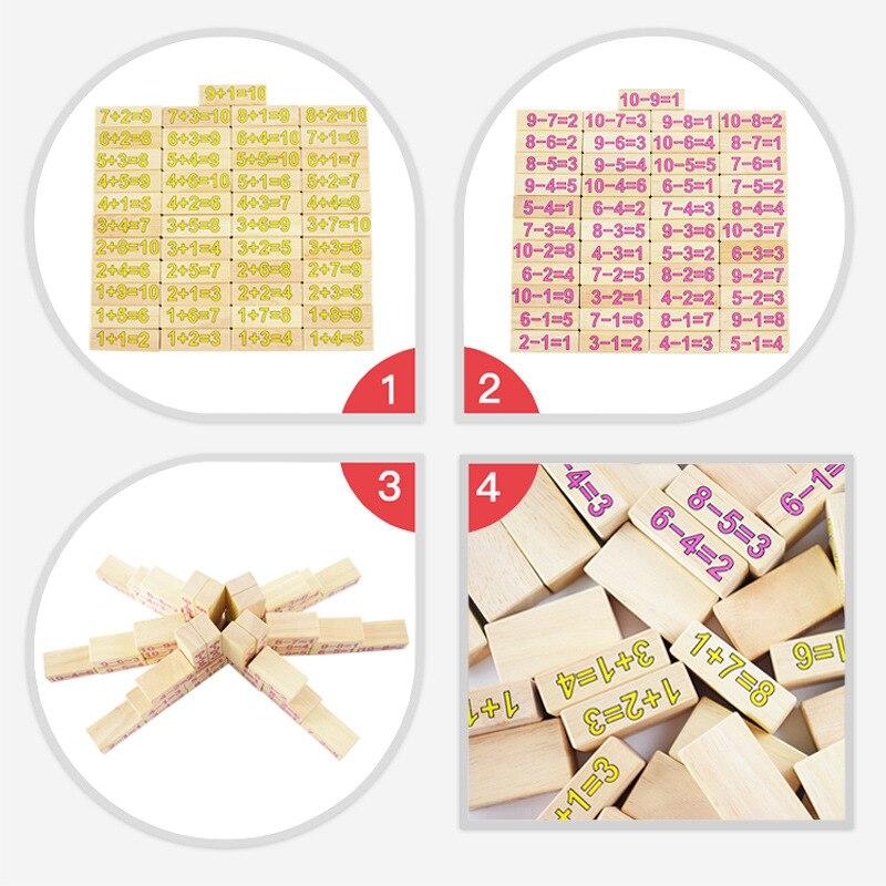 Puzzle pour enfants bois 54 bûches bois stratifié problème de musique enfant frapper mur numérique blocs de construction jeu jouets - 3