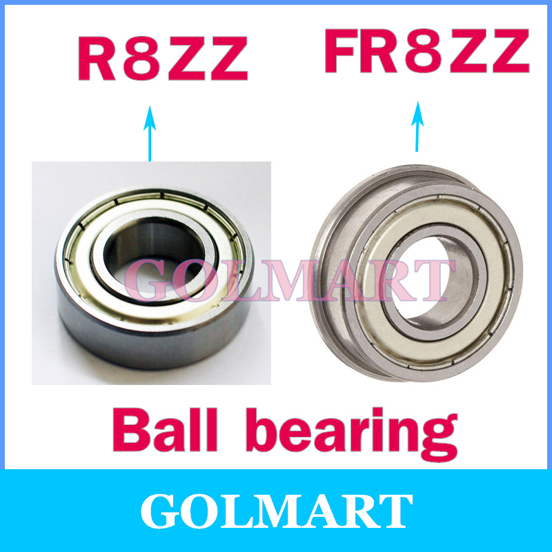 Double Shielded Metal Flanged Ball Bearing FR8ZZ 1//2x1-1//8x5//16inch 5 PCS