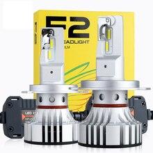 1 세트 H4 F2 자동차 LED 전조등 9003 H1 H7 H8 H9 H11 9005 9006 HB3/4 9012 72W 12000LM CSP 칩 터보 팬 6000K 전면 램프 전구