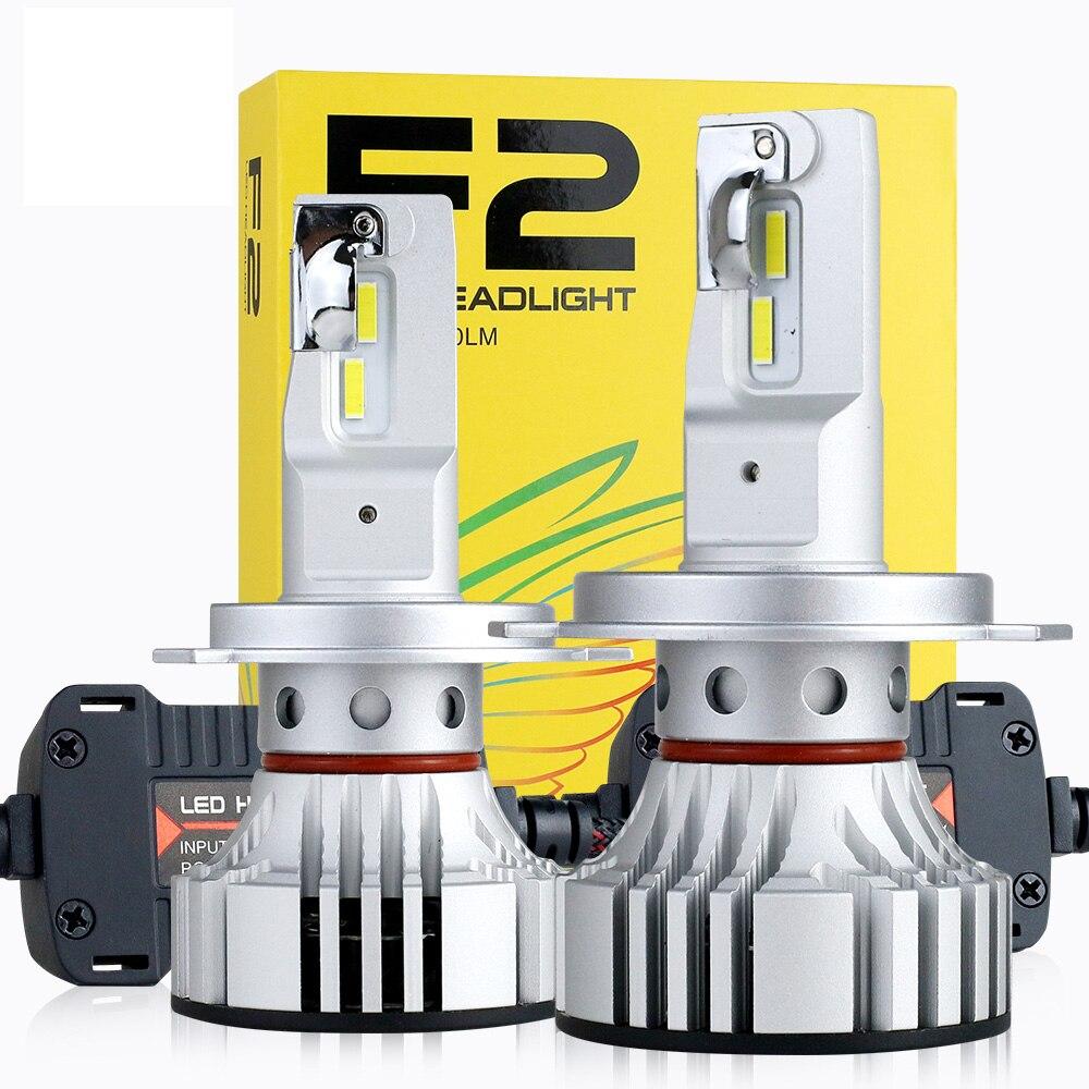 1 set H4 F2 Voiture LED Phare 9003 H1 H7 H8 H9 H11 9005 9006 HB3/4 9012 72 w 12000LM CSP Puces Turbo Ventilateur 6000 k Avant Lampes Ampoules