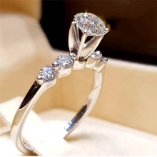 Wedding Rings for Women Luxury Clear AAA+ Cubic Zirconia Round CZ Fashion Jewelry Dropshipping
