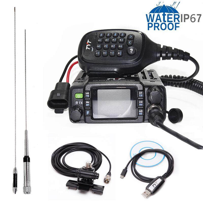 TYT TH-8600 IP67 Étanche Double Bande 136-174 mhz/400-480 mhz 25 w Voiture Radio HAM mobile Radio avec Antenne, clip de Montage, Câble USB