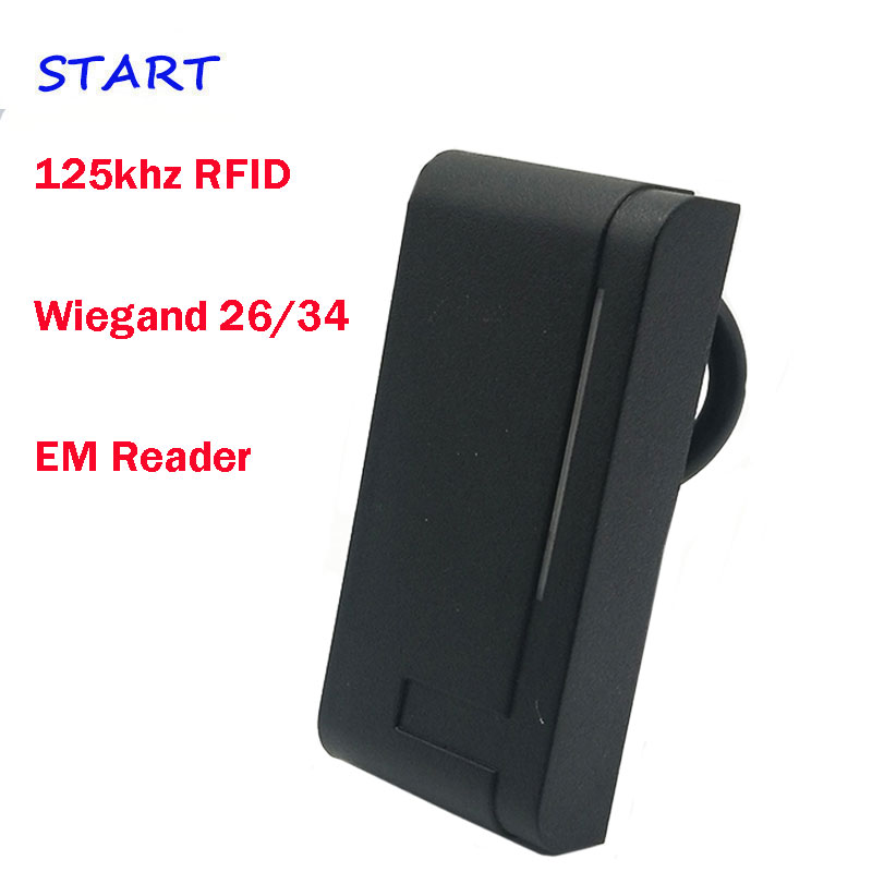 Envío Gratis 125 khz rfid lector de Control de acceso de la puerta lector de tarjeta IP65 impermeable wiegand 26/34 esclavo se encuentra muy EM tarjeta