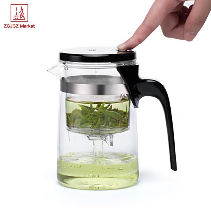 Samadoyo High Grade Gongfu Flower Tea Pot Set <font><b>Glass</b></font> Mug 500ml Food Grade <font><b>Glass</b></font> Teapot infuser Office Tea Cup E01