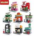 HSANHE Brick Mini Building Blocks Architecture Kids Figure toys Educational Compatible With Legoe Toys for Children Christmas