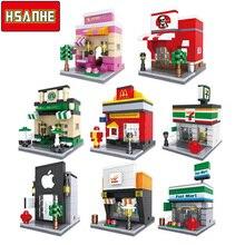 HSANHE Brick Mini Building Blocks Architecture Nanoblockse Kids toys Educational Compatible Legoe Toys for Children Christmas