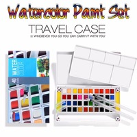 12 18 24 30 36 40Colors Solid Watercolor Paint Set High Quality Watercolors Field Sketch Set