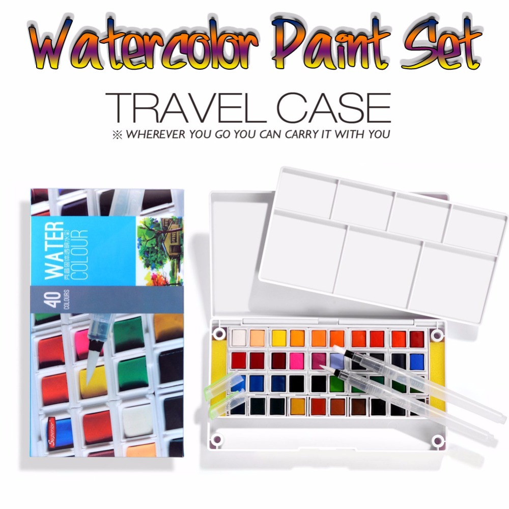 Superior High Quality Solid Watercolor Paints 12/18/24/30/36/40/48 Colors Half Pans Pigment Set For Artist Drawing Art Supplies ...
