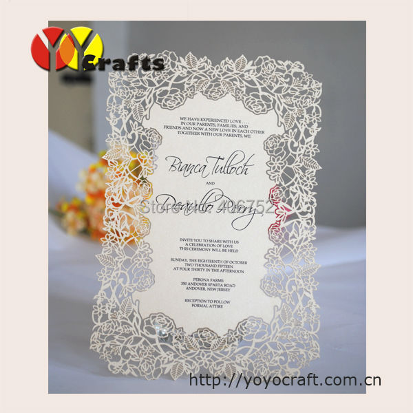 wedding decoration rose wedding invitation cards,printing writing on wedding invitaiton card ...
