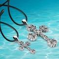Alta calidad de hombre moda cruz de plata colgante de collar, nueva plata de ley 2014 hombres collar de cruz joyería vintage