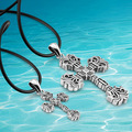 high quality men fashion silver Cross pendant necklace,new 2014 sterling silver cross necklace men vintage jewelry