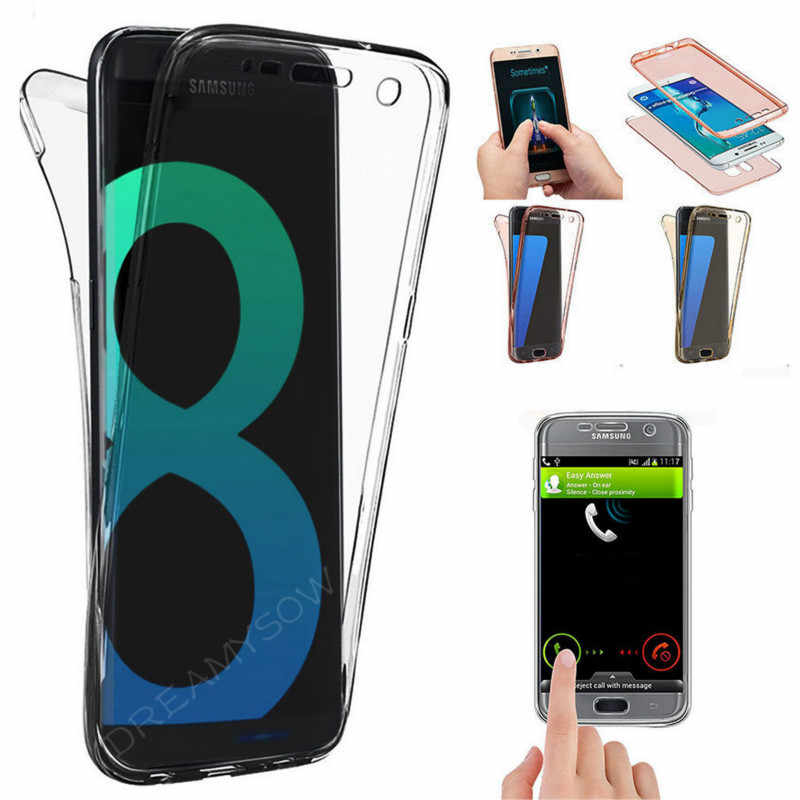 Yumuşak s10plus samsung kılıfı Galaxy M20 M30 A40S A60 A70 A50 A40 S10 S9 S8 artı S10E 360 tam kapak temizle silikon telefon kılıfı