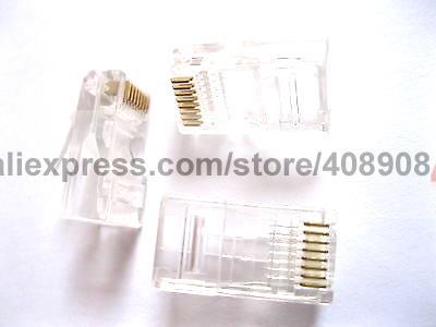 100 Pcs RJ45 Modular Plug Network Connector CAT5 LAN 24 pcs rj45 modular network pcb jack 56 8p w led 4 ports
