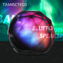 Bluetooth speaker wireless stereo mini portable Colorful lights support  TF card Super bass subwoofer ball speakers